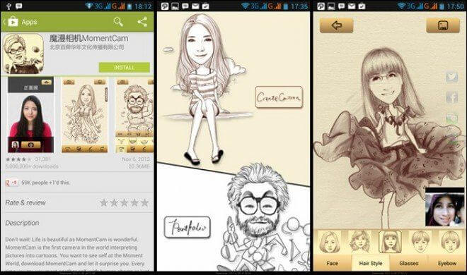 Momentcam migliori app di fotoritocco smartphone