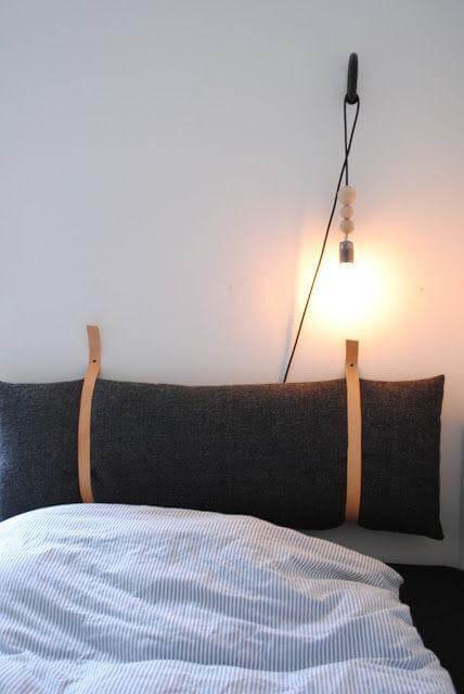 Idee per decorare la testata del letto matrimoniale in - Testata del letto con cuscini ...