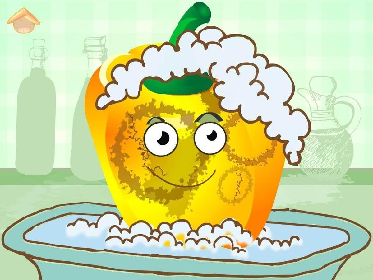 App per bambini - verdure divertenti