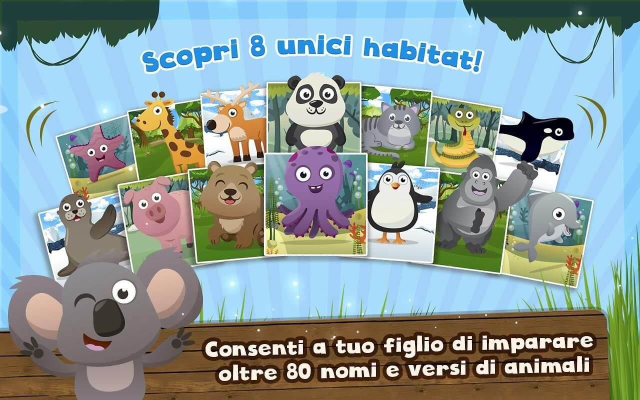 App per bambini - versi degli animali
