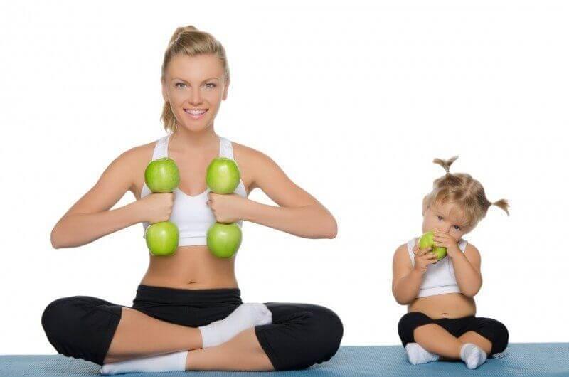 Mamme e fitness  allenarsi con figli