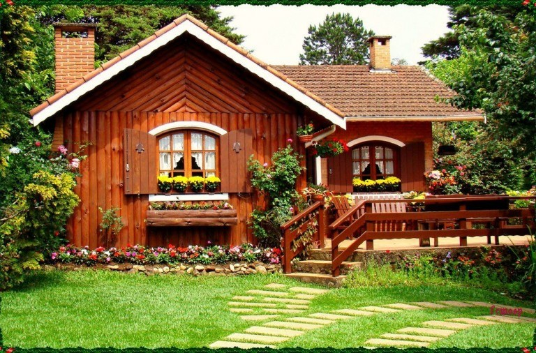 ispirazioni pavimento Patio : Arredare Un Terrazzo In Montagna ~ Casa vacanza villetta rosa d ...