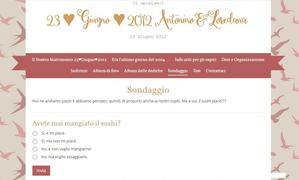 wedding site gratuito come fare