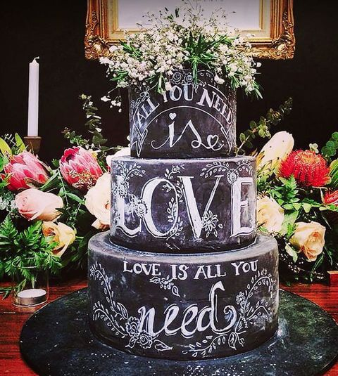Wedding cake_Chalkboard cake