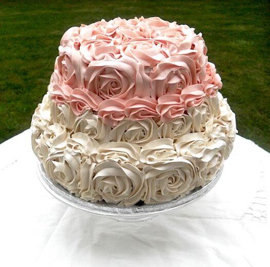 Wedding cream cake