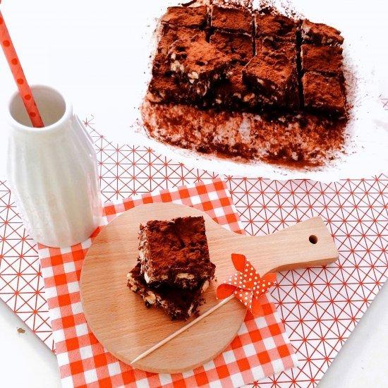 Presentazione Brownies senza cottura