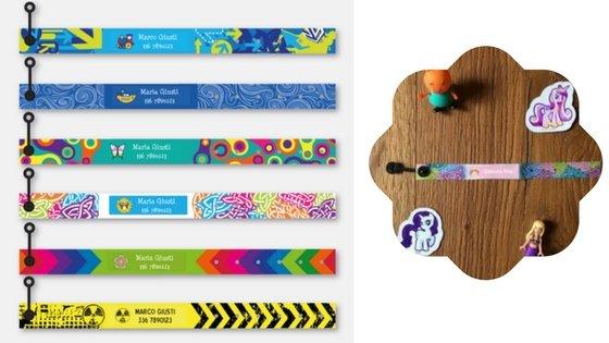 Stickets bracciali identificativi bambini