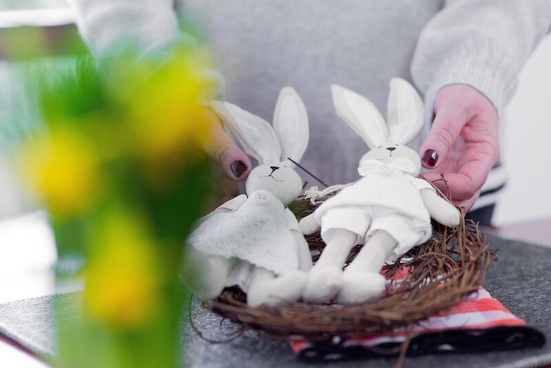 Di Cestini Coniglietti E Fiori Gialli La Mia Tavola Di Pasqua