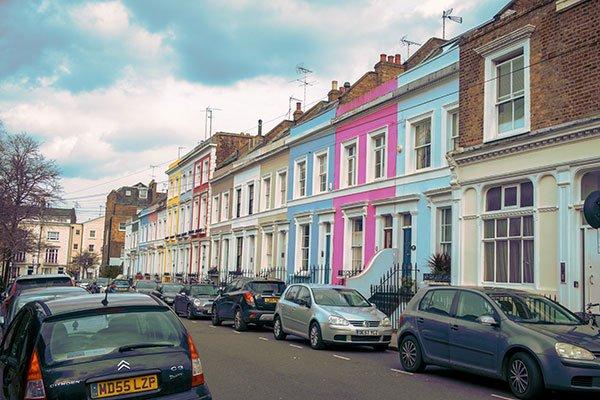 Viaggiare in primavera   Il quartiere di Notting Hill a Londra