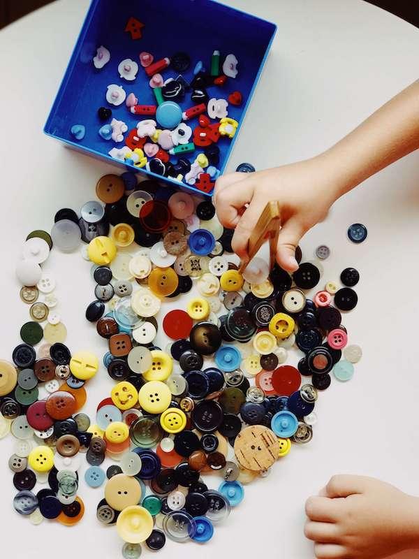 Montessori gioco Bottoni