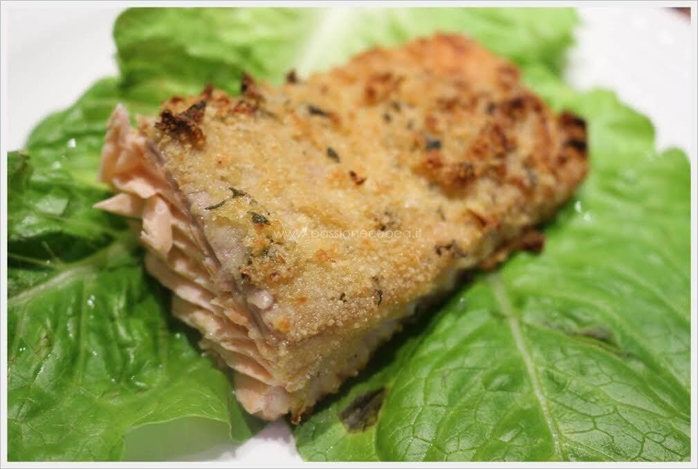 menu di Natale Filetto di salmone gratinato ricetta