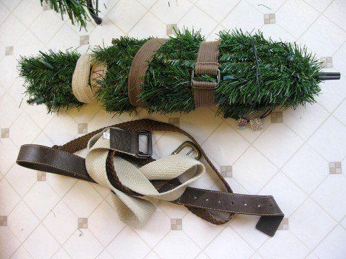 albero e cintura decorazioni natalizie
