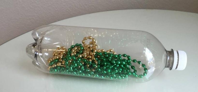 bottiglia fili di perle