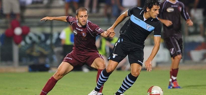 Lanni con Sergio Floccari ex centravanti della Lazio