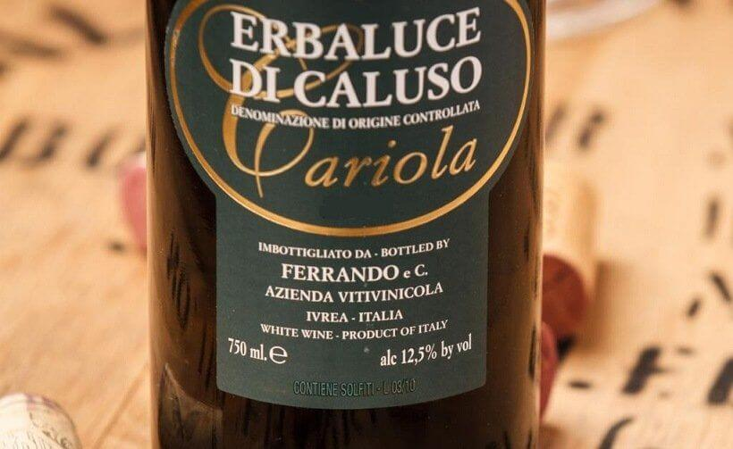 Erbaluce vini bianchi del piemonte elenco