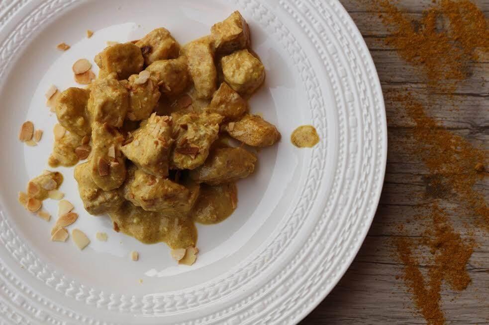 Pollo al curry ricetta pasqua cruelty free