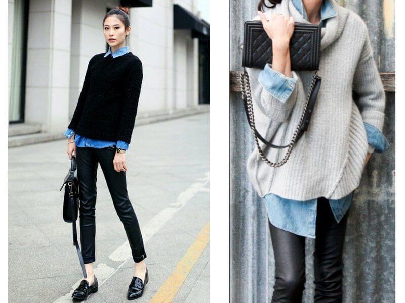 camicia jeans abbinamento