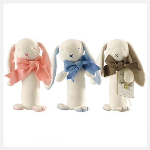 giocattoli per neonati in cotone organico coniglio