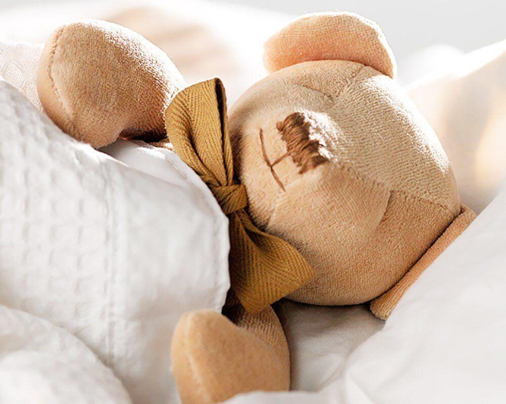 giocattoli per neonati in cotone organico