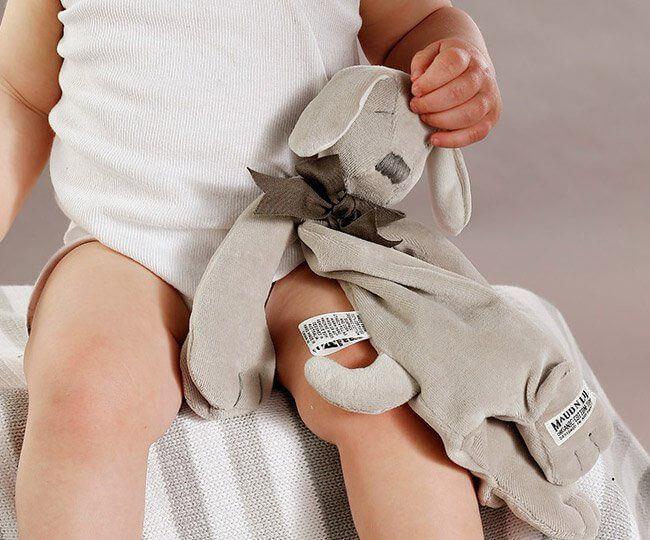 giocattoli per neonati in cotone organico pupazzo