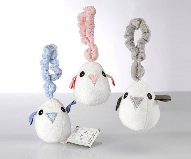 giocattoli per neonati in cotone organico sonagli