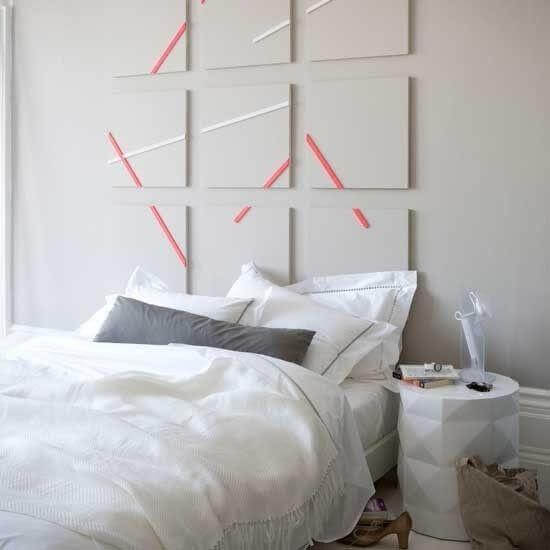 Idee per decorare la testata del letto matrimoniale in maniera fai da te chizzocute - Creare testata letto ...
