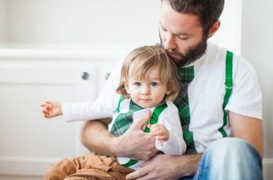 vestiti uguali papà figlio
