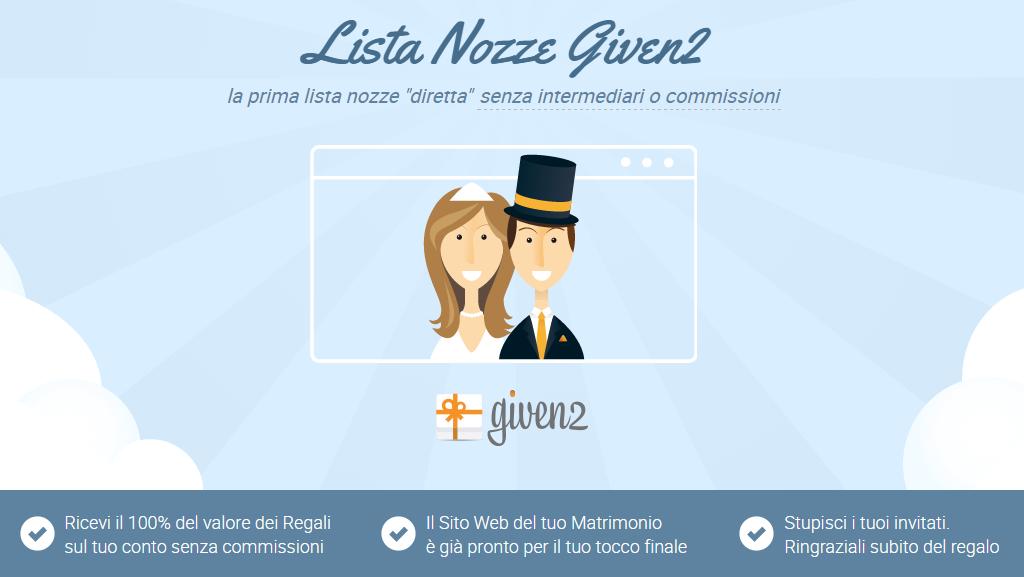 lista nozze online conto corrente given2