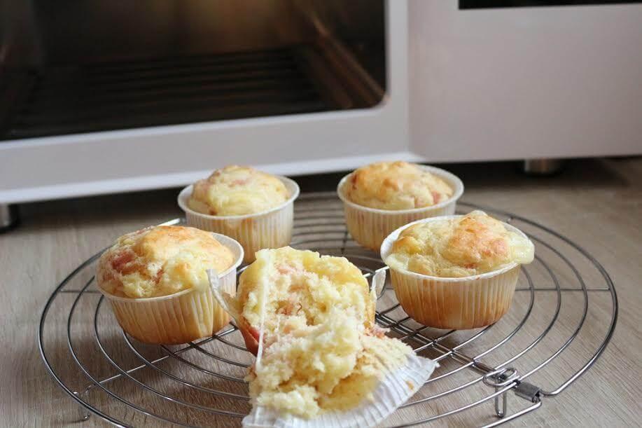 muffin salati al prosciutto con irinox abbattitore