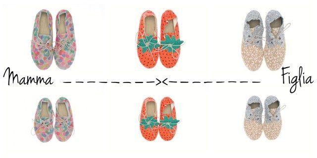 scarpe uguali mamma figlia