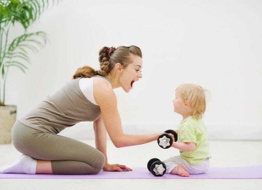 Mamme sport fitness con figli