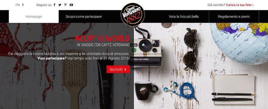 CupTheWorld concorso caffè Vergnano