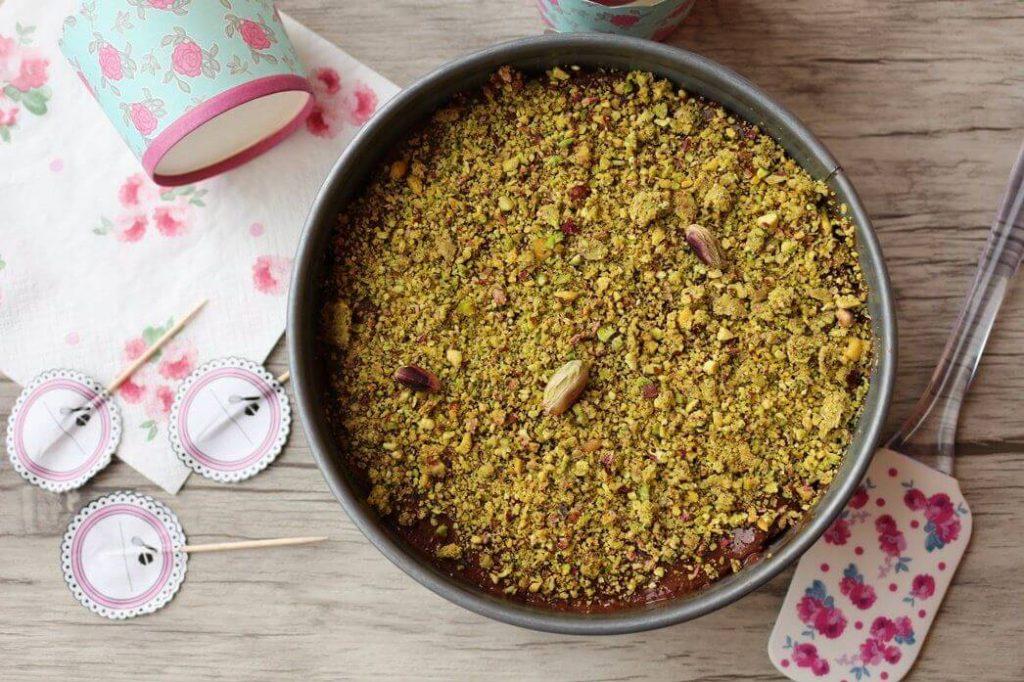 ricetta cheesecake al cioccolato e pistacchio