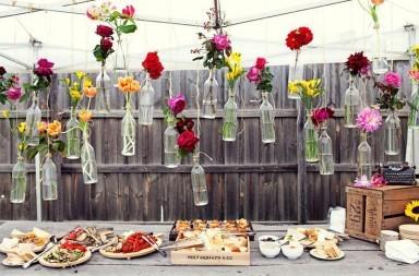 come apparecchiare buffet all aperto giardino
