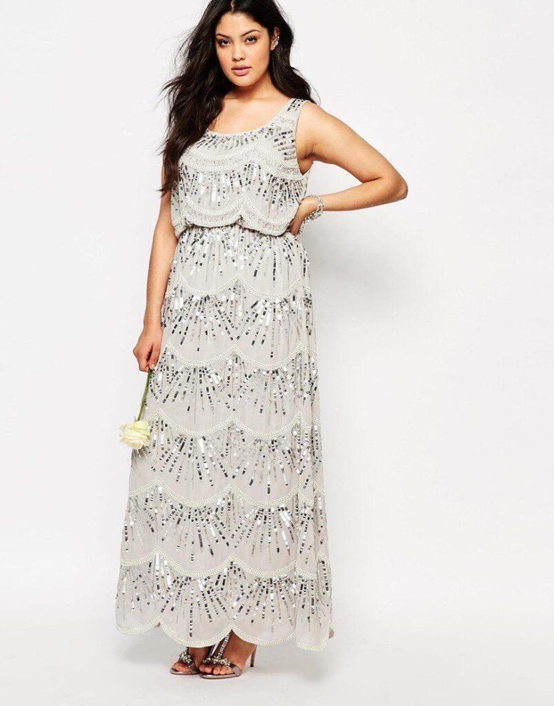 moda curvy taglie forti vestito lungo