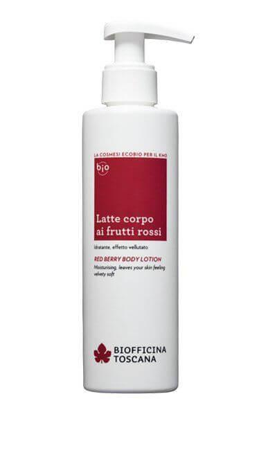 Biofficina toscana latte corpo ai frutti rossi