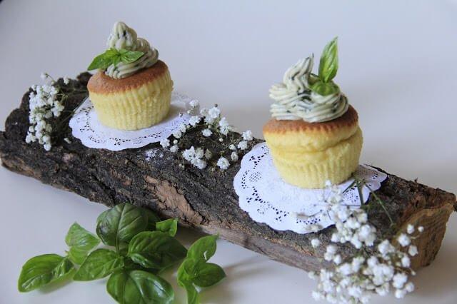 Cupcake olio e basilico