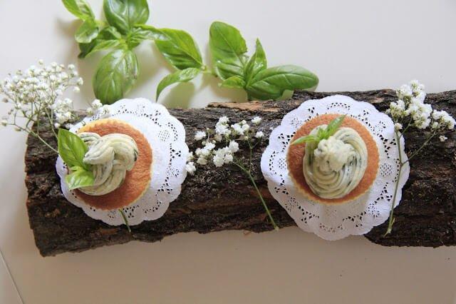 Cupcake salati olio e basilico