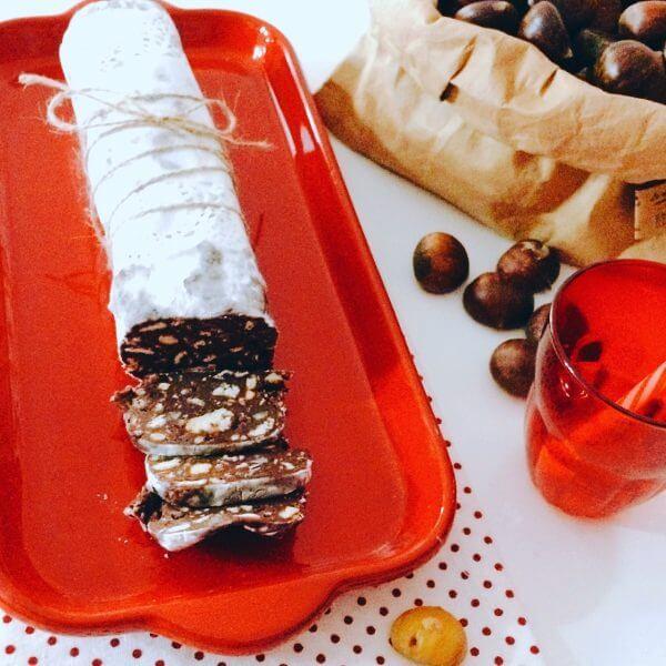 ricetta salame cioccolato castagne