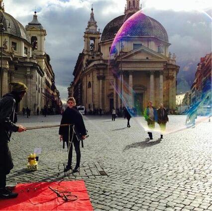 bolle sapone piazza del popolo