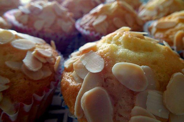 muffin con mandorle