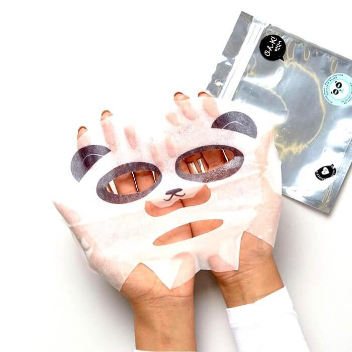 nuove maschere viso Oh K! Panda Face Fibre Face Mask