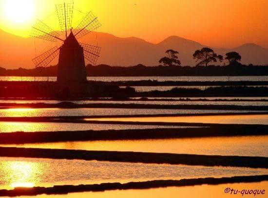 saline di marsala tramonto sicilia