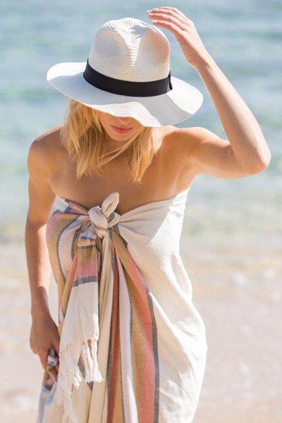 cappello in paglia bianco