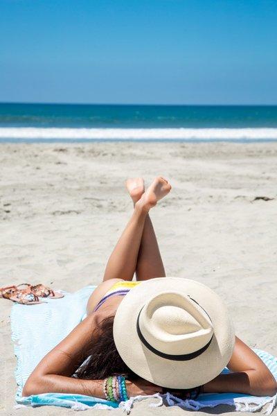 cappello in paglia mare