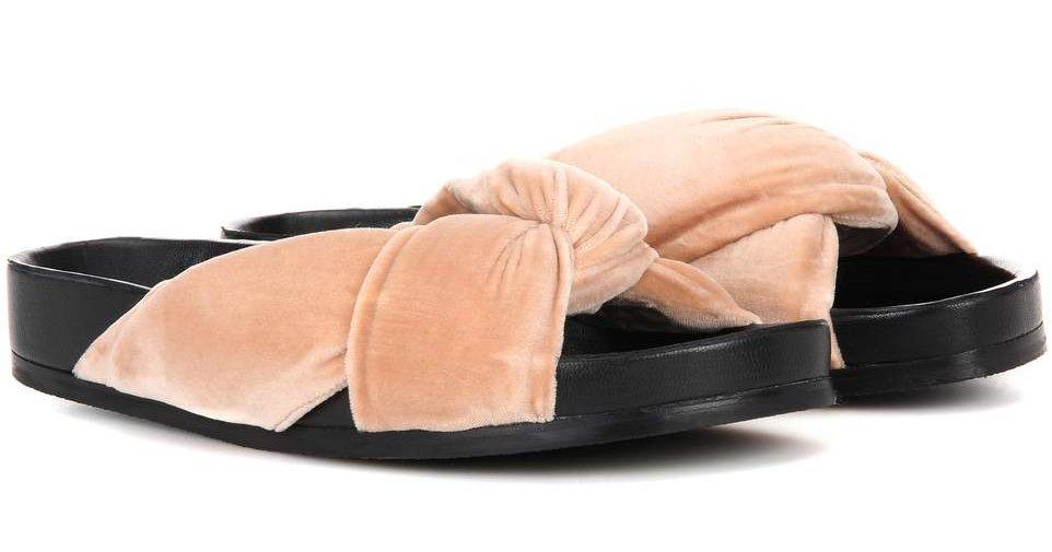 sandali estivi velluto