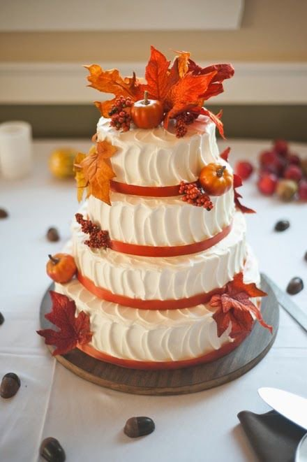 Matrimonio autunnale wedding cake