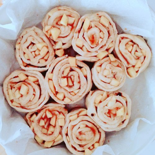 Apple pie cinnamon rolls da cuocere