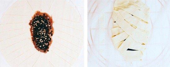 Mummia di pasta sfoglia intrecciata_preparazione