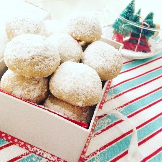 Biscotti Snowball in confezioni regalo